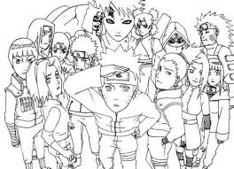 Small Picture Coloring Page Naruto Pages To Print Kakashi Online Akatsuki mosatt