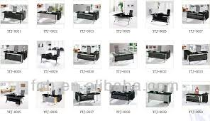 glass top office table. Lastest Design Fashionable Half Moon Transparent Glass Top Decor Of Executive Office Table With
