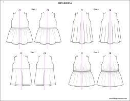 Kids Illustrator Flat Fashion Sketch Templates My Practical Skills