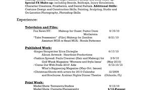 Resume For Cosmetologist Student New Vesochieuxo Cosmetology