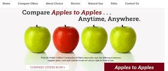 Puco Apples To Apples Natural Gas Rate Comparison Chart Gas Aggregation Information