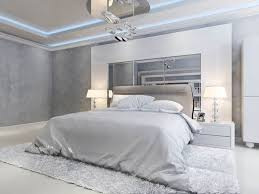 Grey And White Modern Master Bedroom - Modern Master Bedroom ...