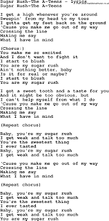 A teens song lyrics song