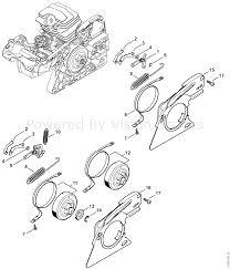 Stihl ms 251 chainsaw ms251 cbe 2 mix parts diagram chain brake