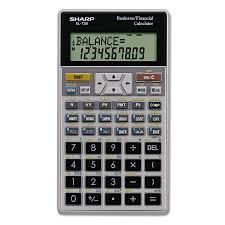 Financial Calculator Sharp EL24C Financial Calculator 24Digit LCD Walmart 1