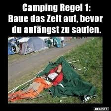 Camping Regel 1 Baue Das Zelt Auf Bevor Du Anfängst Zu Lustige