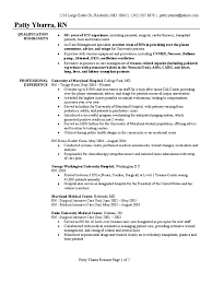 Registered Nurse Resume Sample Intensive Care Unit Nursing