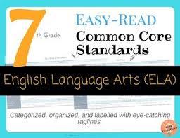 Easy Read Common Core English Language Arts For 7th Grade