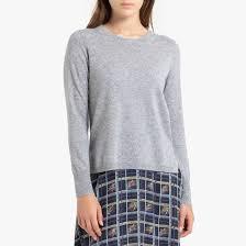 <b>Пуловер кашемировый</b> с круглым вырезом из тонкого трикотажа ...