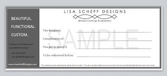 certificate of interior design. Interior Design Gift Certificate Of