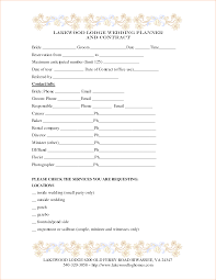 wedding planning contract templates great wedding planner and guide 8 wedding contract template
