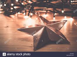 Copper Star Fairy Lights Copper Christmas Star Ornament With Fairy Lights In The