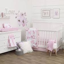 nojo dreamer watercolor fl 8 piece nursery crib bedding set rose pink white