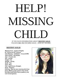 Missing Persons of America -Destiny Solis missing from New York FOUND