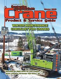 Crane Guide Winter 2018 By Construction Equipment Guide Issuu