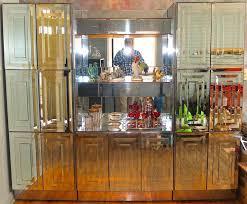 ello mirrored illuminated display cabinet bar for 3