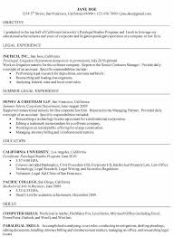Resume Objective For Paralegal Paralegal Resume Objective By Jane Doe Sample Resume For Paralegal 9