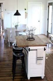 small kitchen island. Stock Island Makeover, Kitchen In Neutrals With White, Wood And Black Accents Via Proverbs31girl Small I