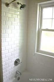 faux subway tile bathtub surround lovely finally subway tile paneling perfect for the laundry
