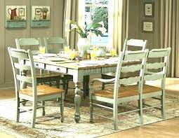 distressed dining table round and chairs set uk
