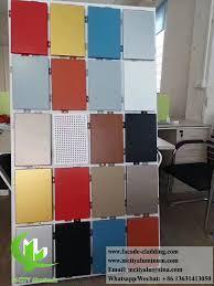solid aluminium panels metal wall