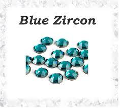 Broušené Kamínky Blue Zircon Ss8 25mm 70ks