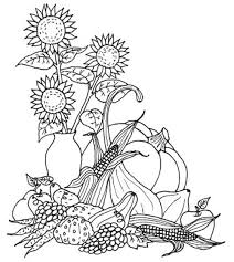 Small Picture Thanksgiving Harvest Coloring Pages Holidays Coloring pages of