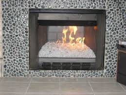 Fireplace With Rocks Before And After Fireplace Glass Photos  Amazingglassflames .