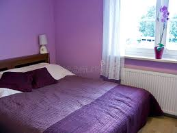 Download Violet bedroom stock photo. Image of color, double, home - 5824316