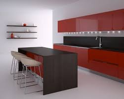... Cosy Black Red Kitchen Simple Kitchen Decor Arrangement Ideas With Black  Red Kitchen ...