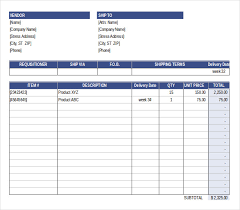 excel po template purchase order template free templates free premium templates