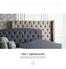 Home furniture bed designs Wedding Chic And Upholstered Headboard And Beds Flipkart Bedroom Furniture Ashley Furniture Homestore