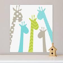 giraffe children s wall art nursery