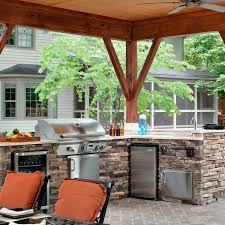 With Plenty Of  This Open Porch In North Carolina Has Space For Cooking And Dining