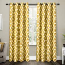 gates sundress yellow sateen blackout thermal grommet top window curtain