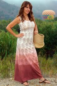 diy hand stamped dip dyed maxi dress