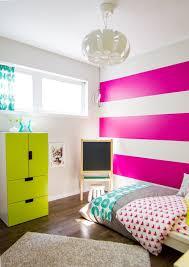 striped fuchsia teenage room