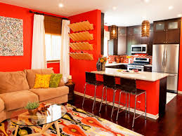 Living Room And Kitchen Amazing Of Brown Orange Living Room Have Orange Living R 1220