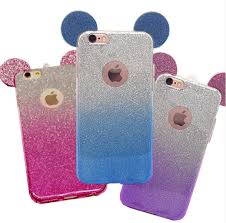 iphone 7 cases. 3d mouse ears iphone 7 tpu glitter gradient case for iphone 6 6s plus 5 5s cases r
