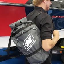adventure duffel bag backpack with nautique logo