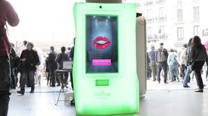 Interactive Vending Machines Enchanting Social Kisses Vending Machine Anna Carreras
