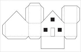 Printable Paper Gingerbread House Patterns Template Ornament Cut Out