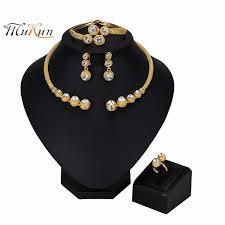<b>2019 MUKUN 2019</b> Wholesale <b>Exquisite Dubai</b> Jewelry Set Luxury ...