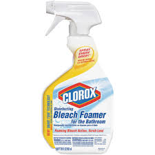 clorox home cleaning clorox bleach foaming bathroom cleaner 30614