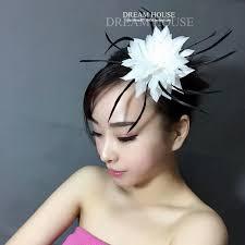 Femme Coiffure Bijoux De Mariée Rétro Plume Blanche Et Noire Demoiselle D Honneur Fête Représentation Indienne épingle à Cheveux Coiffe