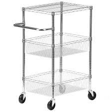 honey can do 3 tier steel wire heavy duty rolling storage cart in