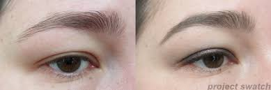 mufe aqua brow before after