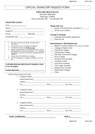 Top Syracuse University Transcript Request Form Templates Free To ...