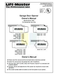 liftmaster garage door opener manual. Delighful Liftmaster Reprogramming Liftmaster Garage Door Opener  Latest Manual Image Home  In T