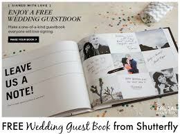Free Wedding Guest Book From Shutterfly Its Back